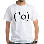 Side Shocked Anime Smiley Premium White T-Shirt