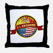 Sicilian American 2 x Awesome Throw Pillow