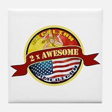 Sicilian American 2 x Awesome Tile Coaster