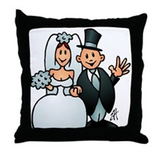 Wonderful wedding Throw Pillow