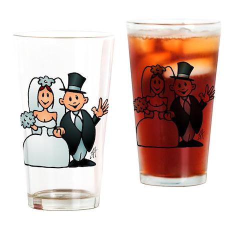 Wonderful wedding Drinking Glass