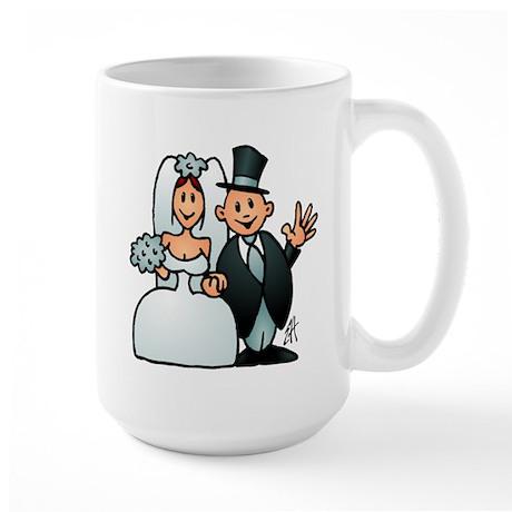 Wonderful wedding Large Mug