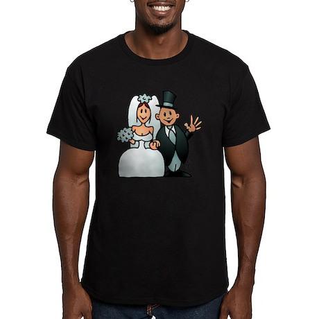Wonderful wedding Men's Fitted T-Shirt (dark)