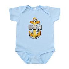 Navy - CPO - SCPO Pin Infant Bodysuit