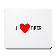 I Love Beer Mousepad