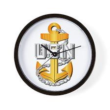 Navy - CPO - CPO Pin Wall Clock