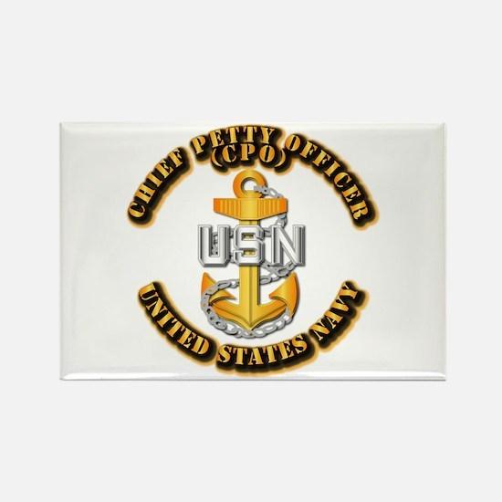 Navy - CPO - CPO Rectangle Magnet