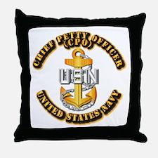 Navy - CPO - CPO Throw Pillow