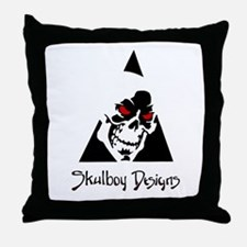 Skulboy Designs logo Throw Pillow