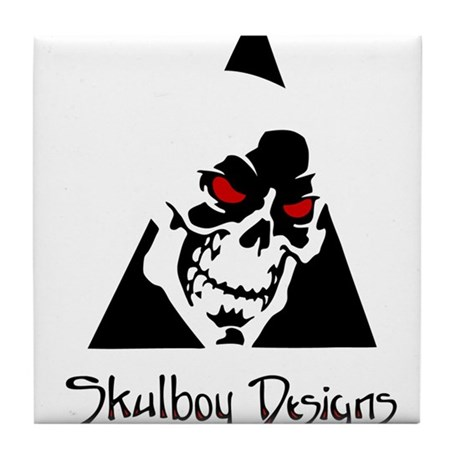 Skulboy Designs logo Tile Coaster