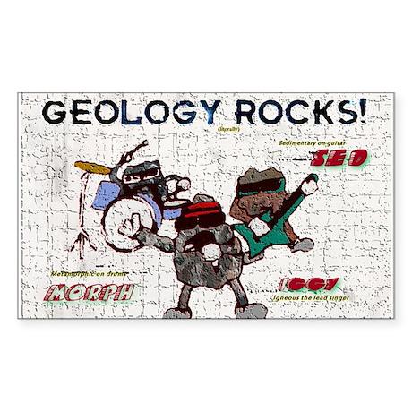 Geology Rocks Sticker (Rectangle)