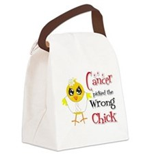Lung Cancer Picked The Wrong Chick Canvas Lunch Ba