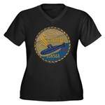 USS SCAMP Women's Plus Size V-Neck Dark T-Shirt