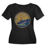 USS SCAMP Women's Plus Size Scoop Neck Dark T-Shir