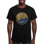 USS SCAMP Men's Fitted T-Shirt (dark)