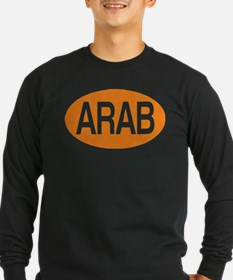 Arab Long Sleeve Black T-Shirt