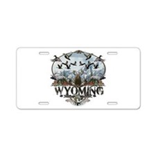 Wyoming Outdoors Aluminum License Plate