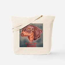 I Love My Wiener Tote Bag