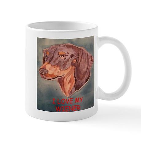 I Love My Wiener Mug