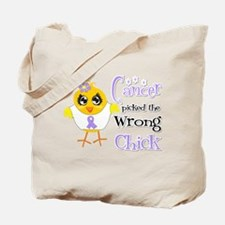 General Cancer Picked The Wrong Chick Tote Bag