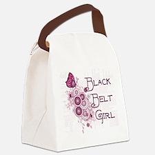 Martial Arts Black Belt Girl Canvas Lunch Bag
