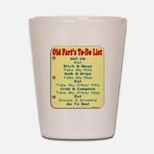 Old Fart To-Do List (s/yel) Shot Glass