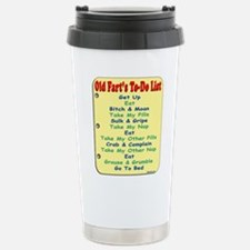 Old Fart To-Do List (s/yel) Stainless Steel Travel