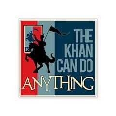 "The Khan Square Sticker 3"" x 3"""
