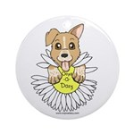 Oops-a-Dazy Puppy Ornament (Round)
