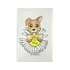Oops-a-Dazy Puppy Rectangle Magnet