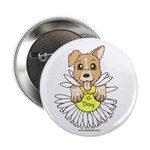 """Oops-a-Dazy Puppy 2.25"""" Button"""