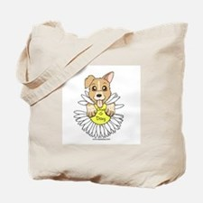 Oops-a-Dazy Puppy Tote Bag