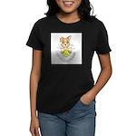 Oops-a-Dazy Puppy Women's Dark T-Shirt