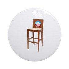 Anti Obama Empty Chair Ornament (Round)
