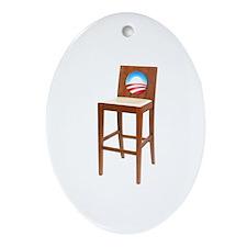 Anti Obama Empty Chair Ornament (Oval)