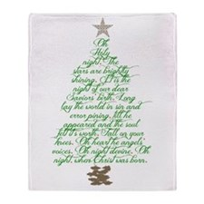 Oh holy night tree Throw Blanket