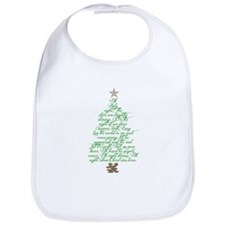 Oh holy night tree Bib