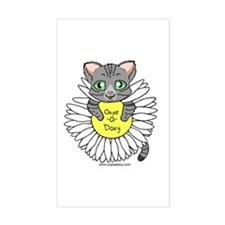 Oops-a-Dazy Kitten Sticker (Rectangle)
