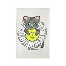 Oops-a-Dazy Kitten Rectangle Magnet