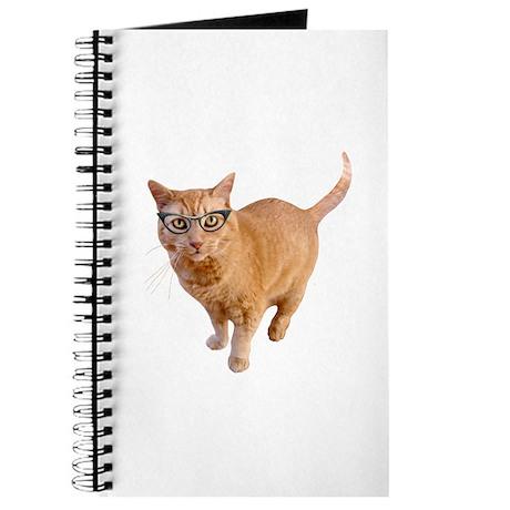 Orange Cat Glasses Journal