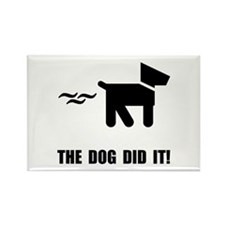 Dog Did It Rectangle Magnet (10 pack)