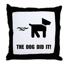 Dog Did It Throw Pillow
