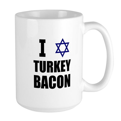 I Star Turkey Bacon Large Mug