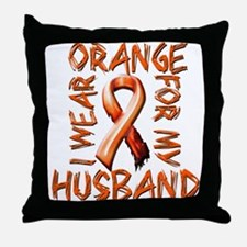 I Wear Orange for my Husband.png Throw Pillow