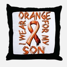 I Wear Orange for my Son.png Throw Pillow