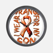 I Wear Orange for my Son.png Wall Clock