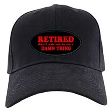 Retired: Don't Ask Me Baseball Hat (red on black)