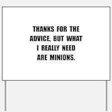 Need Minions Yard Sign