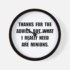 Need Minions Wall Clock