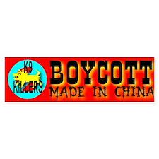 Boycott Made In China K9 Kill Bumper Bumper Sticker